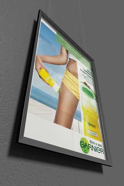 Plakatgestaltung für Garnier